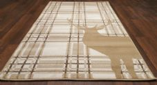 Modern Approx 5x3 80x150cm Woven Top Quality Stag-checks Beiges/Berber Rugs/Mats